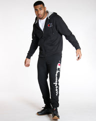 CHAMPION Power Blend Script Fleece Jogger - Black - Vim.com