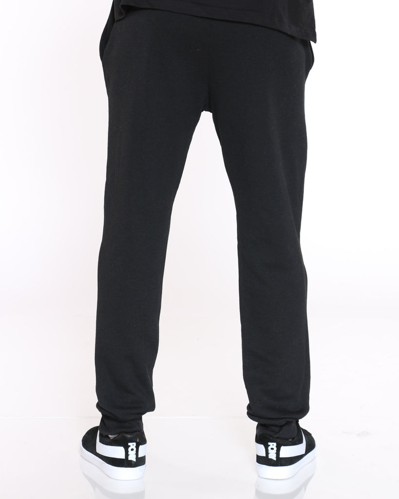 Power Blend Script Fleece Jogger - Black