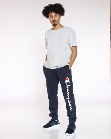 Powerblend Script Fleece Jogger - Navy