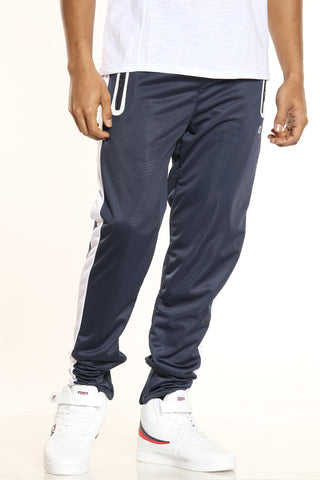Men's Side Stripe Tricot Pant - Navy White-VIM.COM