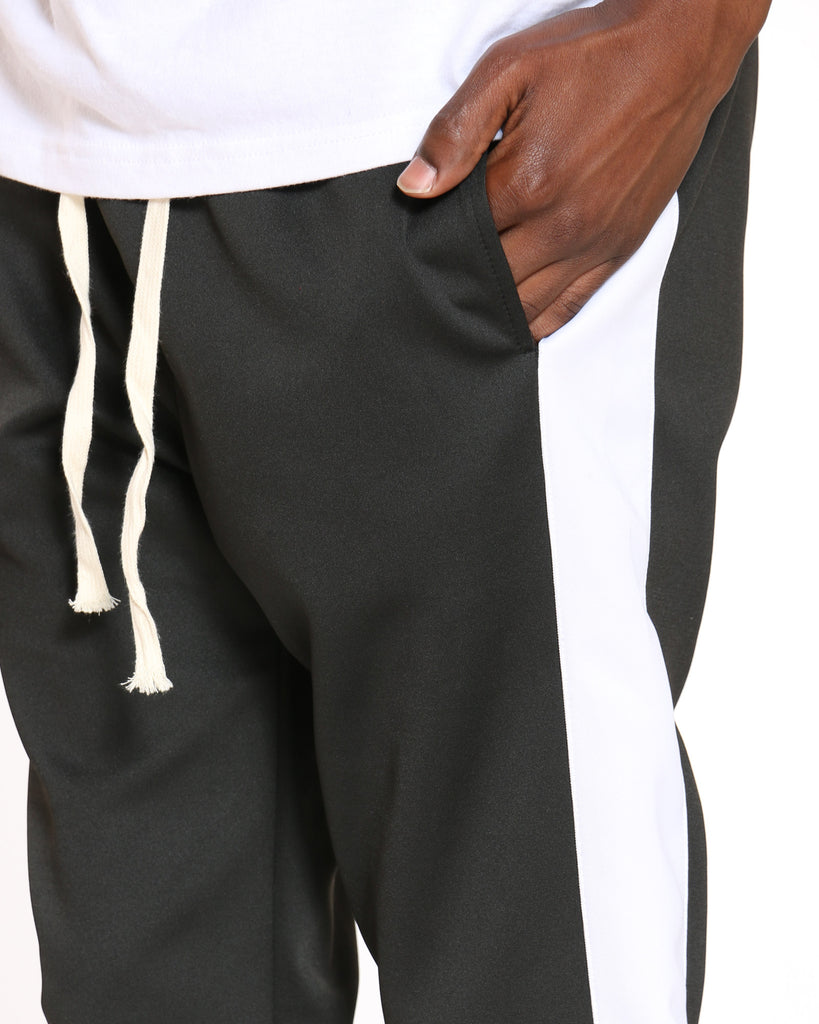 Side Taping Track Pant - Black White