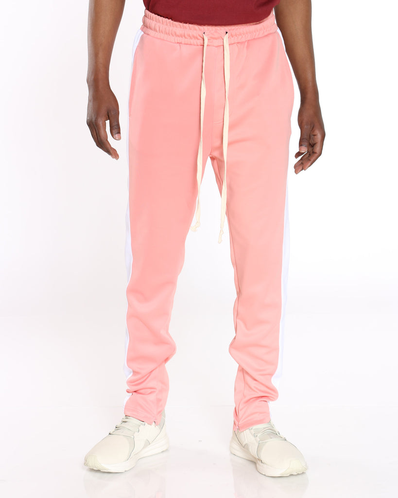 Clarke Side Taping Track Pant - Pink White