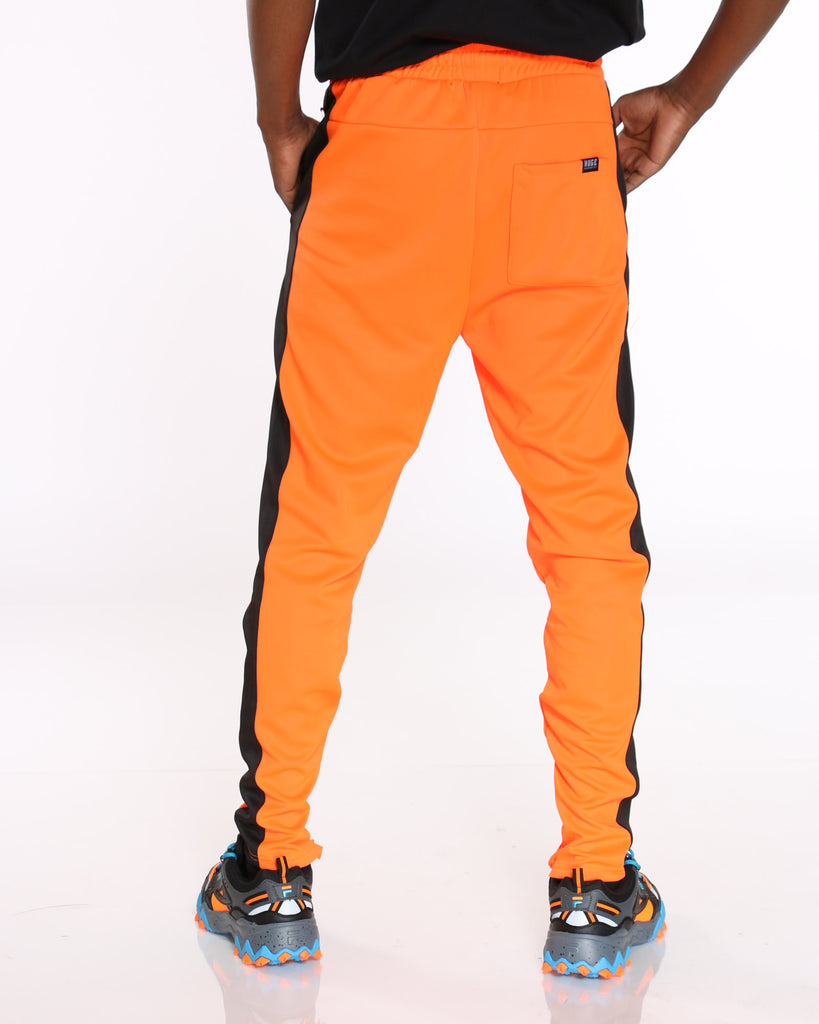 Clarke Side Taping Track Pant - Orange Black