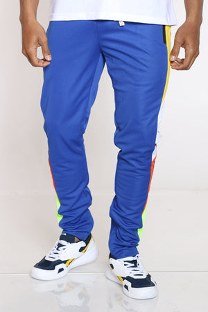 Men's Color Block Track Pant - Royal-VIM.COM