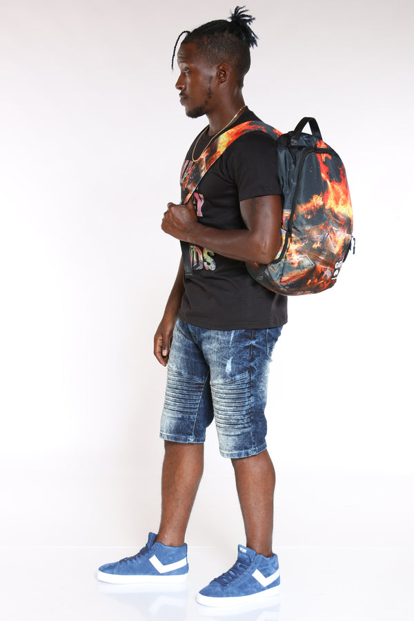 Men's Burning Money Backpack - Black