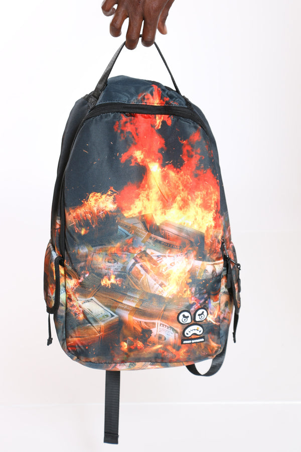 Men's Burning Money Backpack - Black-VIM.COM