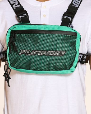 Men's Pyramid Chest Rig Bag - Turquoise