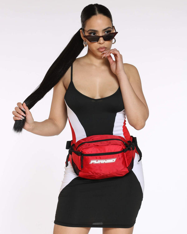 BLACK PYRAMID-Women's Pyramid Tech Sling Bag - Red-VIM.COM