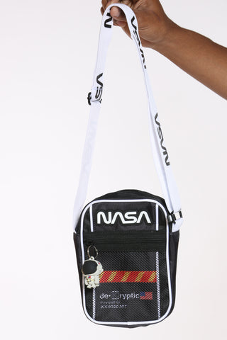 Men's Nasa Crossbody Bag - White-VIM.COM