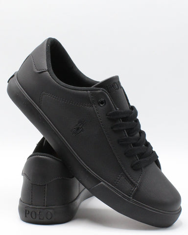 POLO RALPH LAUREN Triple Sneaker (Grade School) - Black - Vim.com
