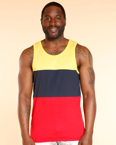 VIM Color Block Tank Top - Red - Vim.com
