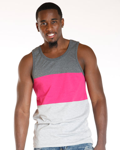 VIM Color Block Tank Top - Pink - Vim.com