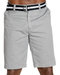 Men's Twill Belted Chino Shorts