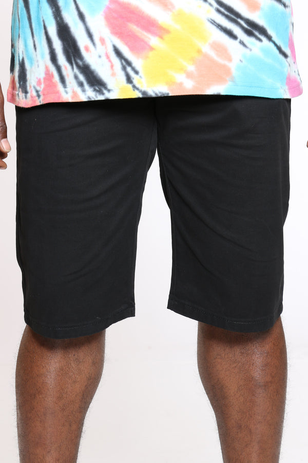 Men's 15 Inch Inseam Bermuda Short - Black-VIM.COM