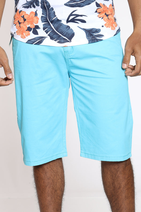Men's 15 Inch Inseam Bermuda Short - Blue-VIM.COM