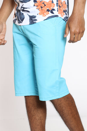 Men's 15 Inch Inseam Bermuda Short - Blue