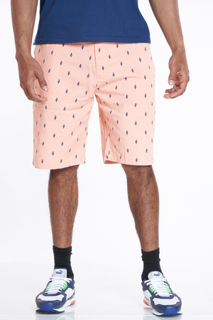 Another Day Cactus Twill Short - Salmon-VIM.COM