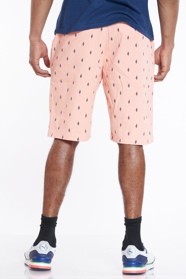 Another Day Cactus Twill Short - Salmon