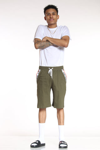 Men's Classic Body Glove Short - Olive-VIM.COM