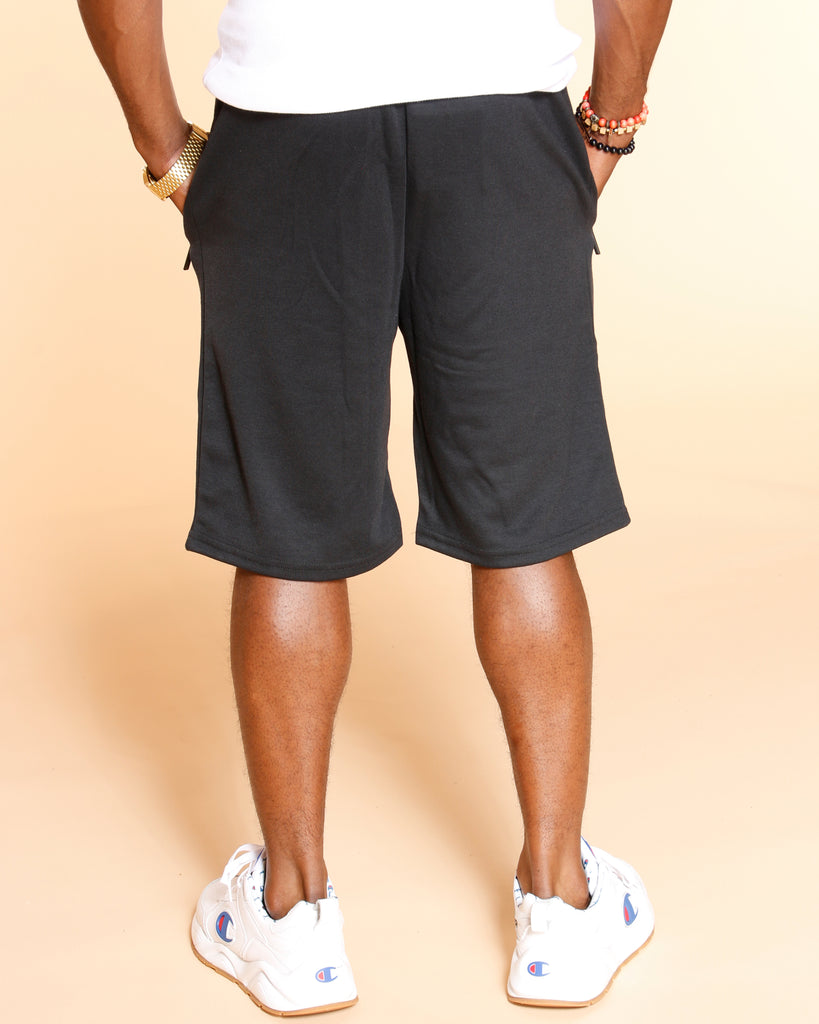 VIM Marled Tech Fleece Shorts - Black - Vim.com