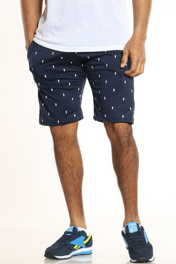 Men's Volts French Terry Short - Navy-VIM.COM
