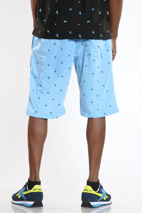 Men's Trees French Terry Short - Baby Blue