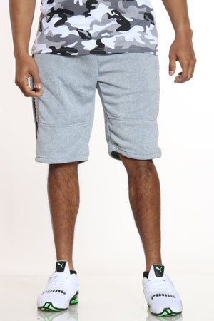 Now Or Never Moto Fleece Short - Heather Grey