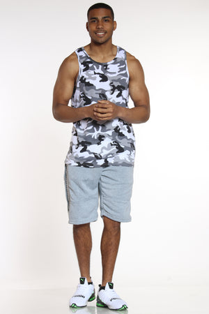Now Or Never Moto Fleece Short - Heather Grey-VIM.COM
