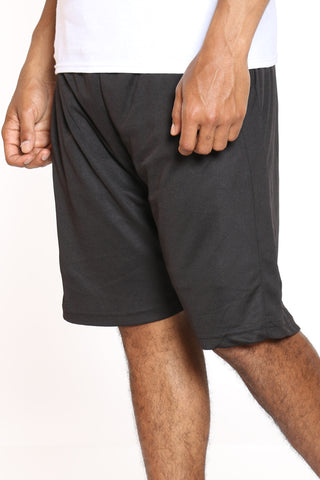 Men's Side Stripe Basketball Short - Black-VIM.COM