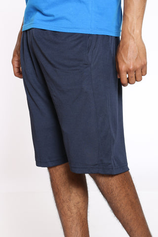 Men's Side Stripe Basketball Short - Navy-VIM.COM