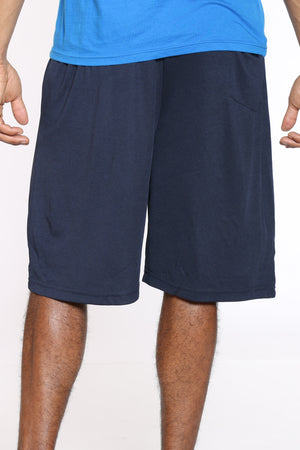 Men's Side Stripe Basketball Short - Navy