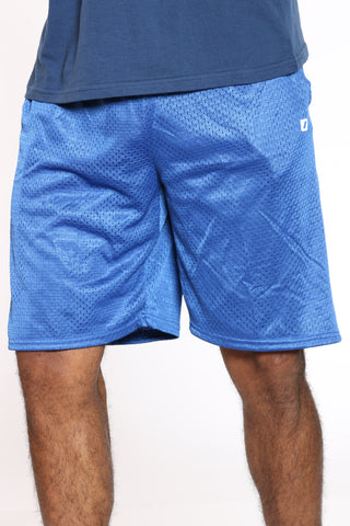 Men's Solid Open Mesh Lined Short - Royal-VIM.COM