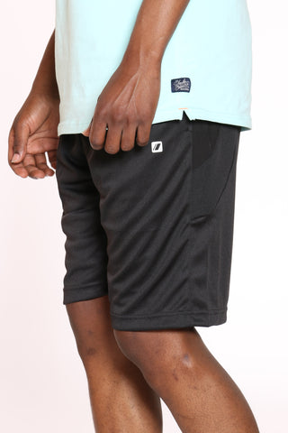 Men's Dri Fit Nylon Piping Short - Black-VIM.COM