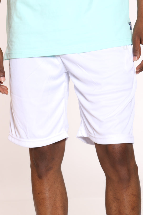 Men's Dri Fit Nylon Piping Short - White Charcoal-VIM.COM