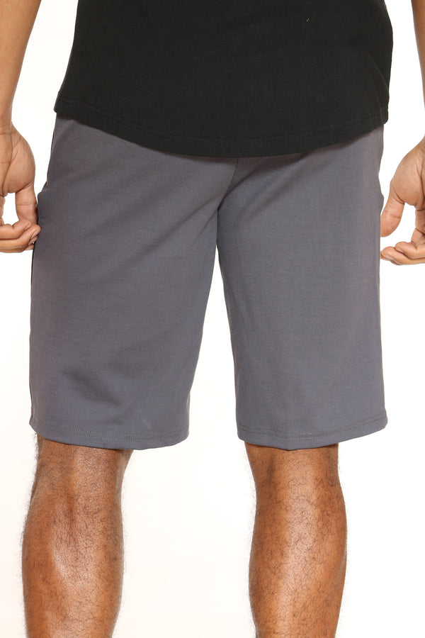 Men's Knitted Moto Short - Charcoal