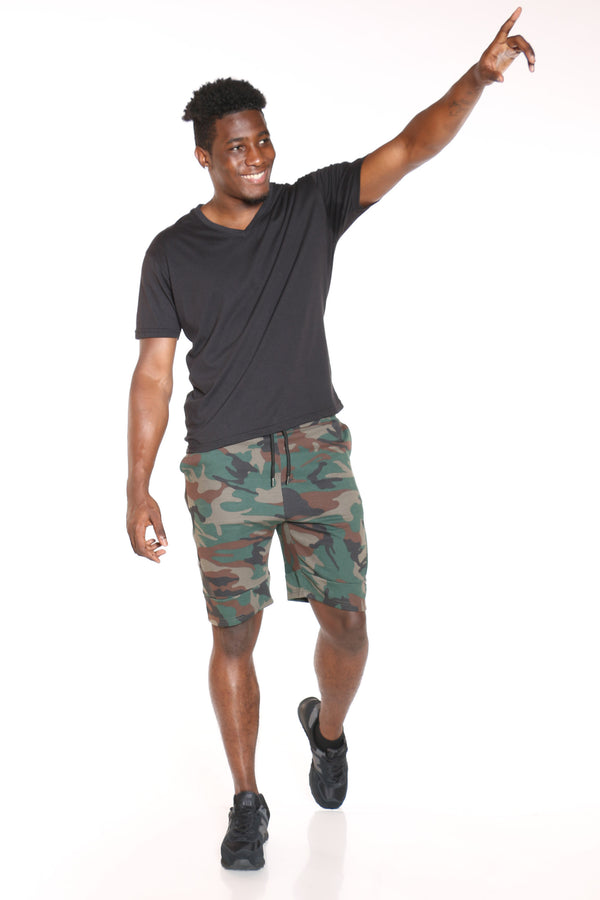 Men's Tech Fleece Side Zip Short - Camo