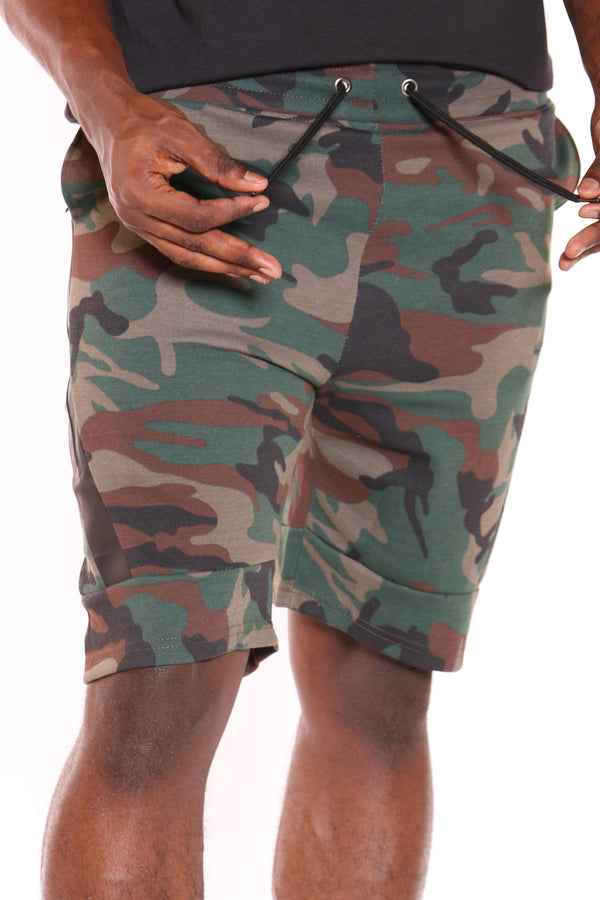 Men's Tech Fleece Side Zip Short - Camo-VIM.COM