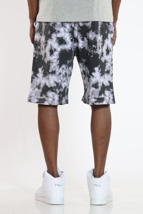 Men's Tie Dye French Terry Short - Black