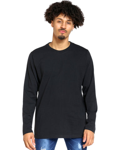 Men's Sly Solid Crew Tee - Black-VIM.COM