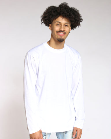 Men's Sly Solid Crew Tee - White-VIM.COM