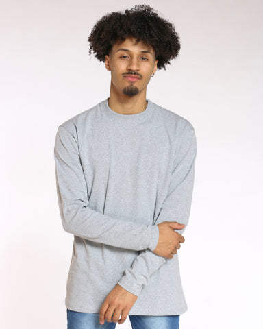 Men's Sly Solid Crew Tee - Heather Grey-VIM.COM