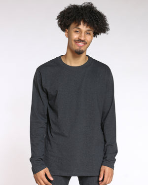 Men's Sly Solid Crew Tee - Charcoal-VIM.COM