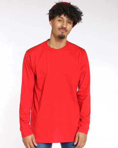 Men's Sly Solid Crew Tee - Red-VIM.COM