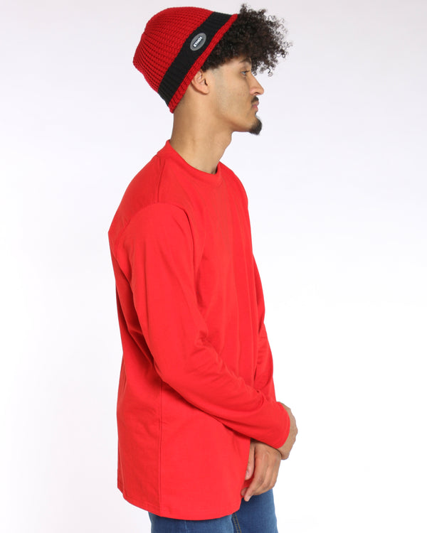 Men's Sly Solid Crew Tee - Red