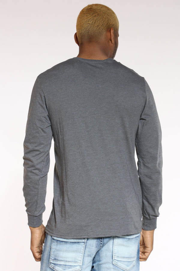 Men's Solid Crew Tee - Charcoal