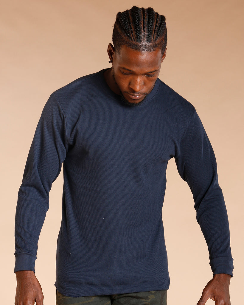 Fitted Long Sleeve Thermal - Navy