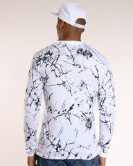 VIM Crackle Print Unfollow Rose Patch Tee - White - Vim.com