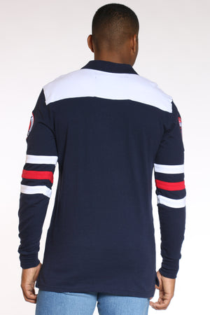 Men's Americana Polo Tee - Navy