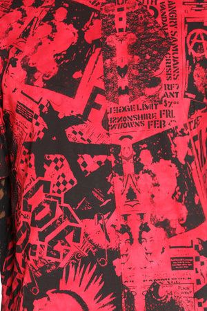 Men's Comic Look Tee - Red