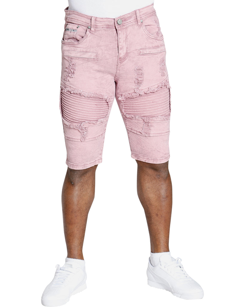 Men's RIPPED Moto SHORTS